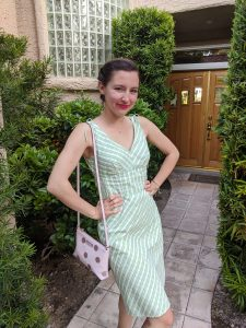 style-icon-green-plaid-pink-polka-dot-purse