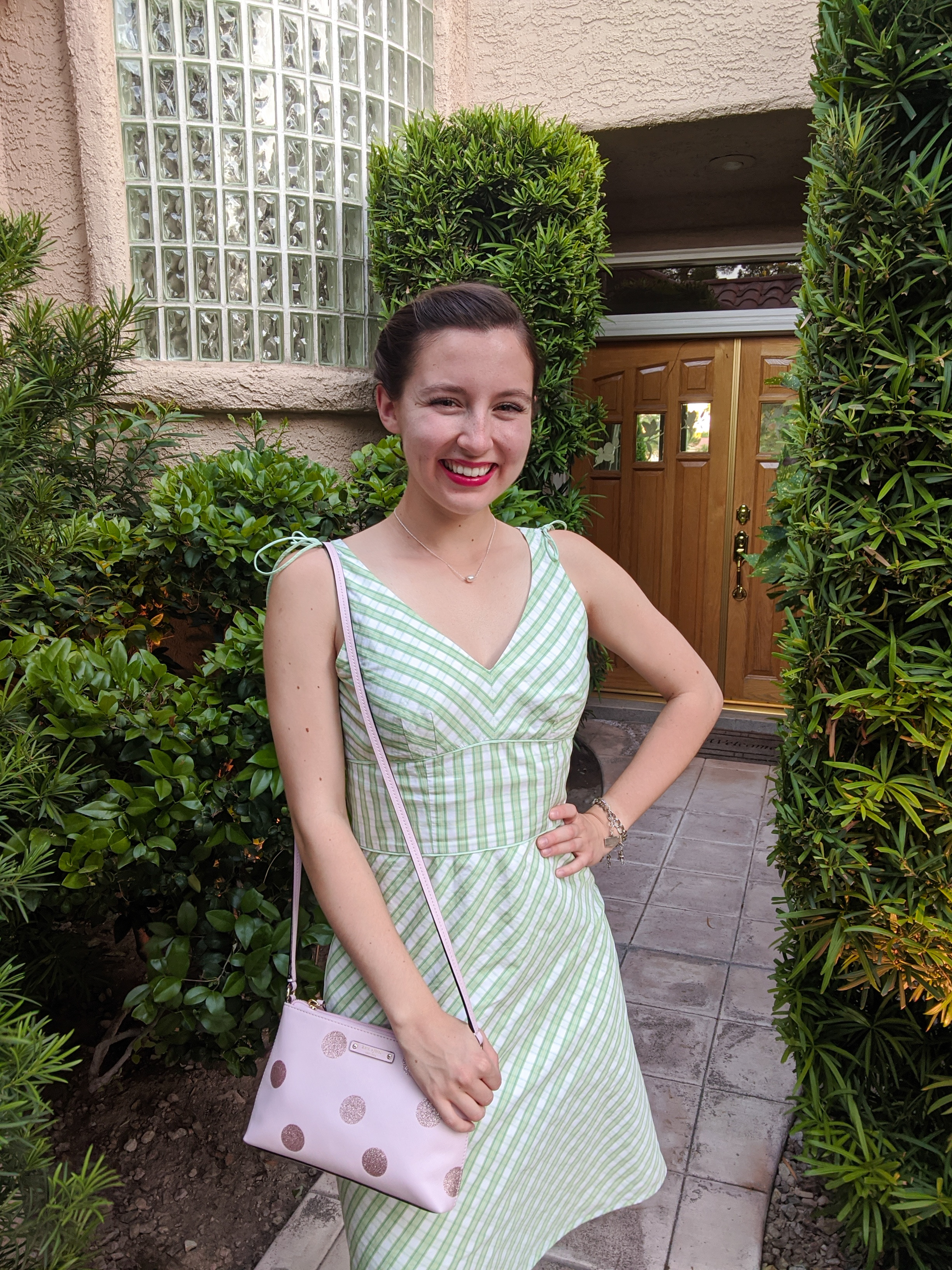 green-plaid-dress-thrift-shopping-retro-style
