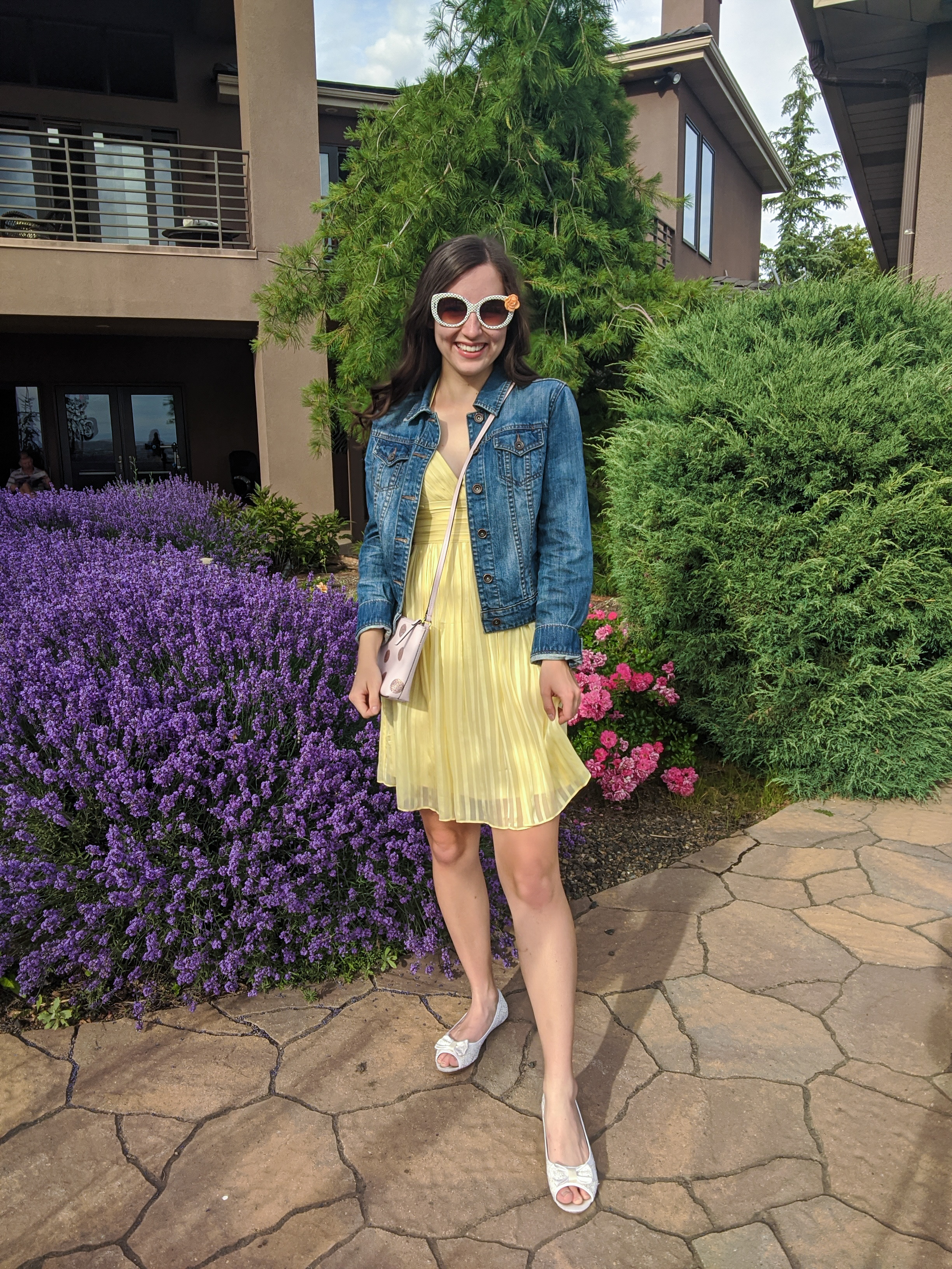 yellow-sundress-denim-jacket-girly-outfit-summer-style