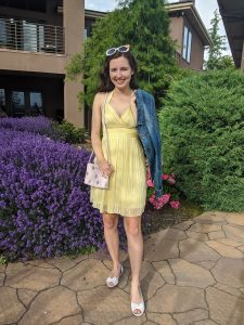yellow-halter-dress-summer-outfit-girly-style