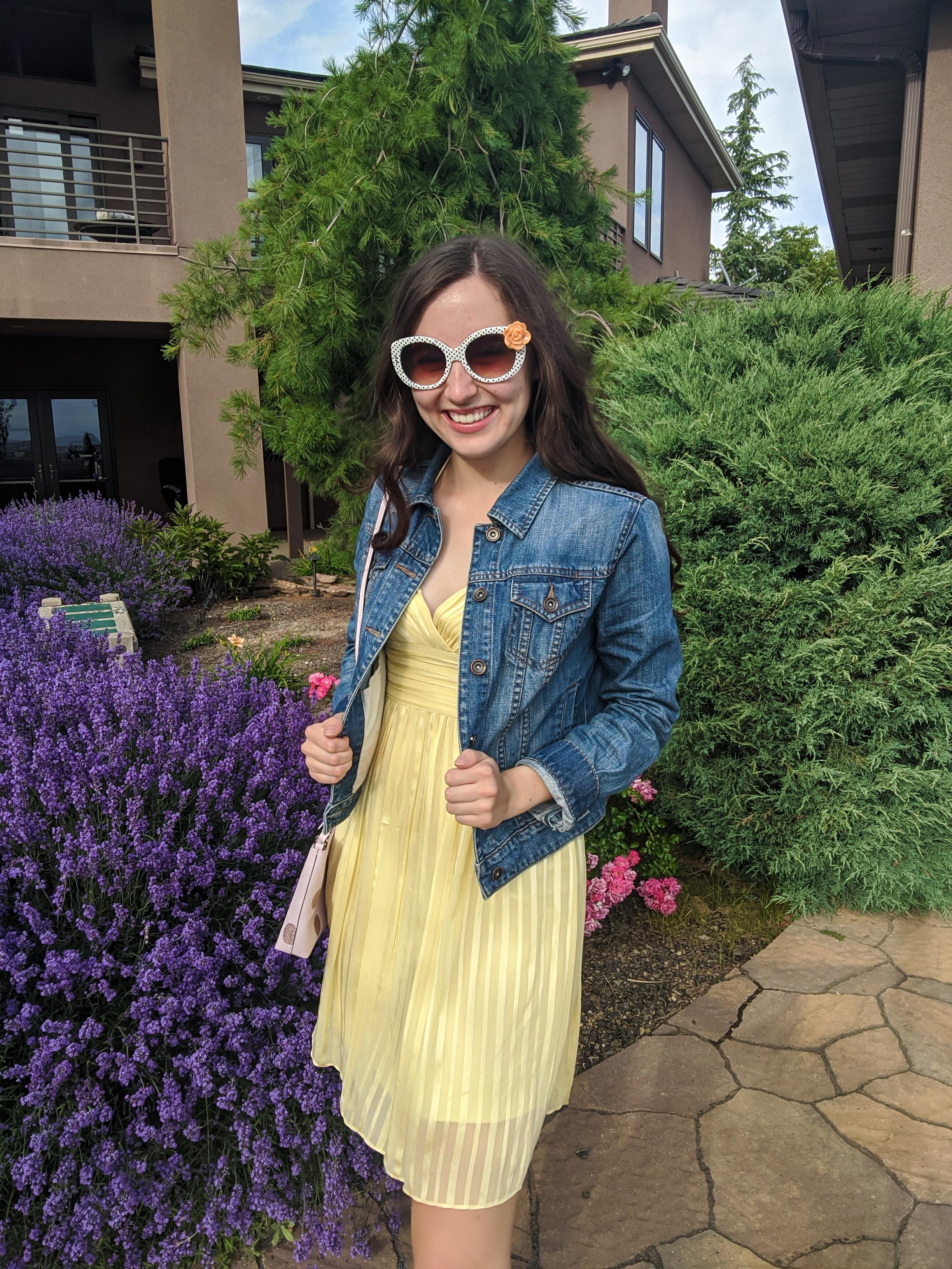 yellow-clothing-summer-dress-polkadot-sunglasses
