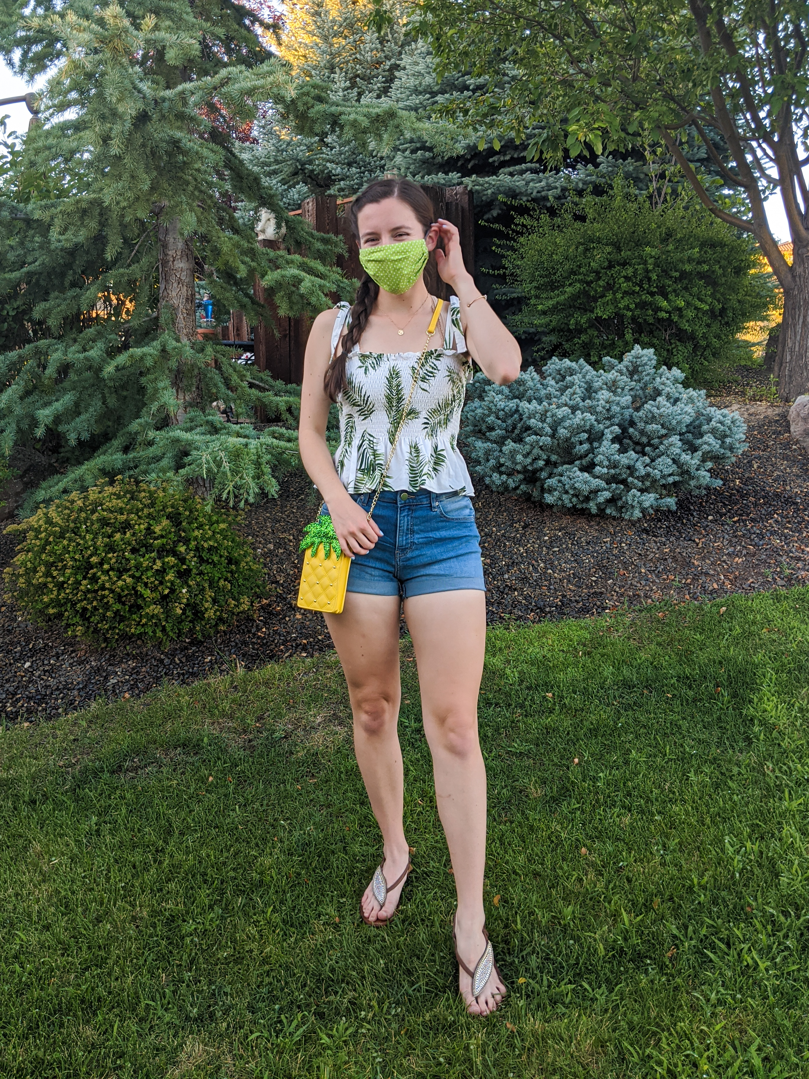 mask-fashion-palm-print-pineapple-purse