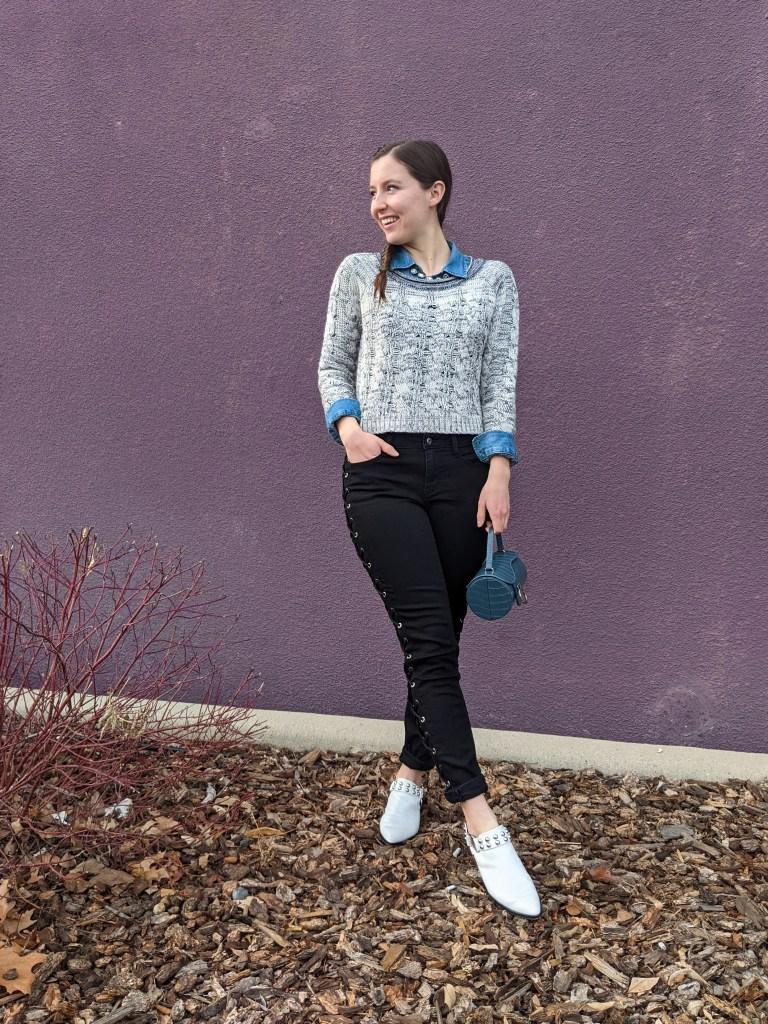 black-laceup-pants-white-mules-edgy-style-preppy-outfit