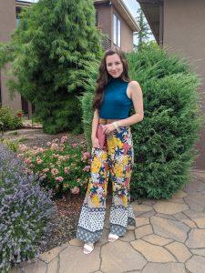 turquoise-top-palazzo-pants-printed-bottoms