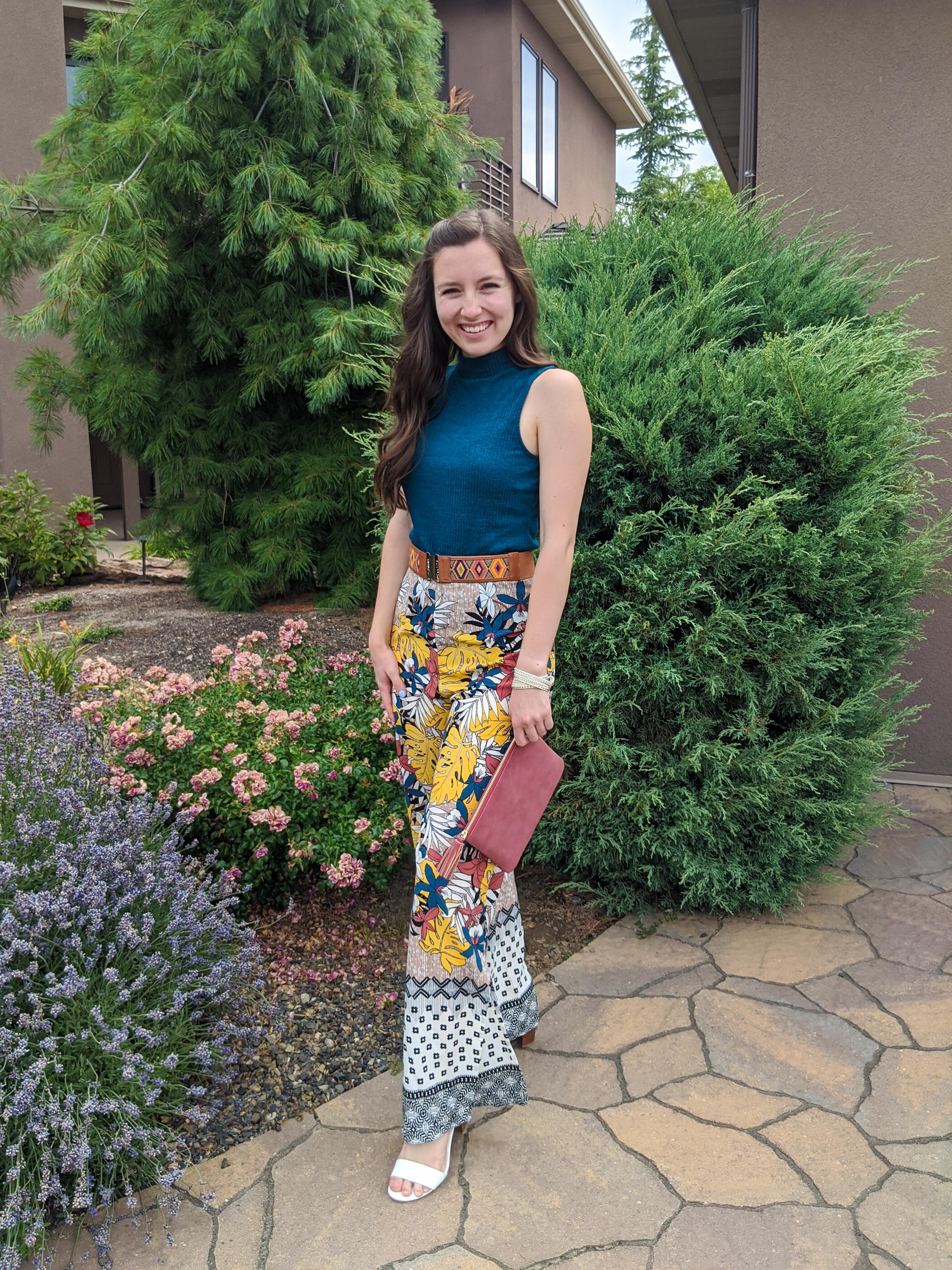 boho-style-mockneck-top-patterned-pants