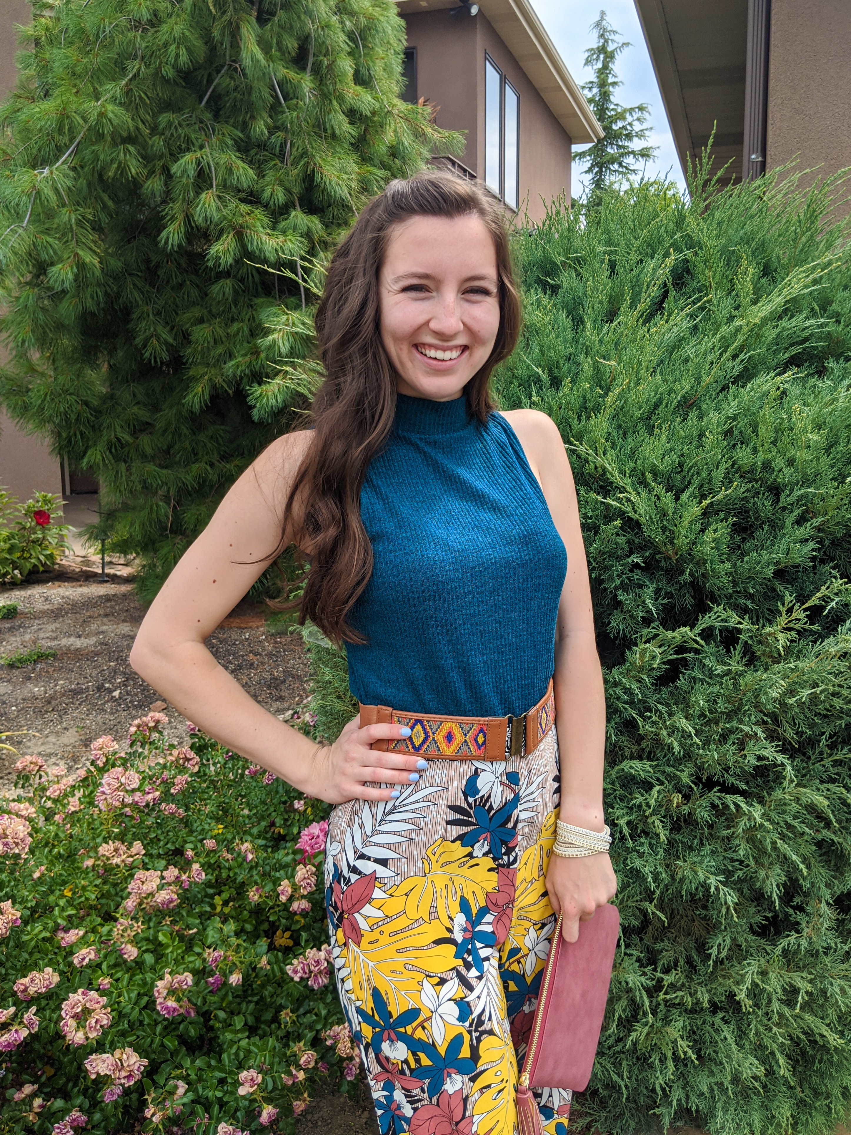 colorful-pants-turquoise-top-patterned-pants