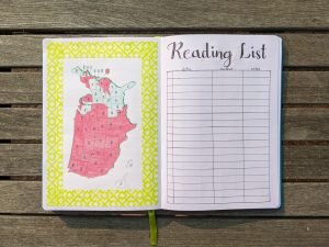 reading-list-country-map-bullet-journaling