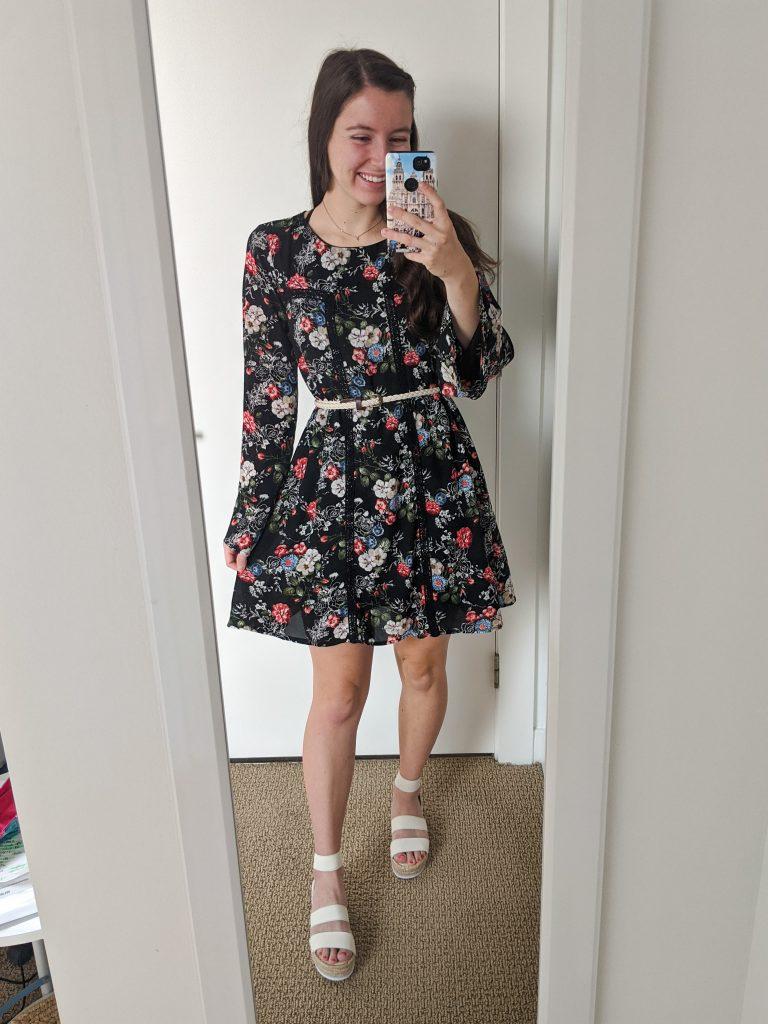 fall-floral-dress-white-espadrilles-college-fashion