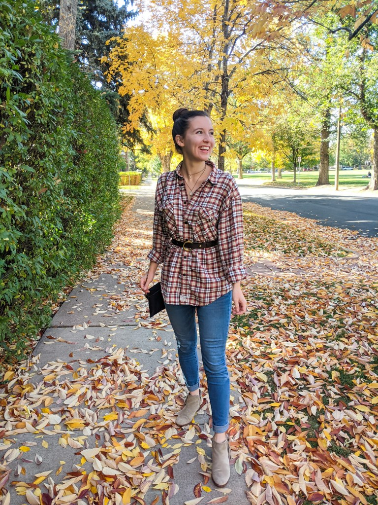 plaid-tunic-menswear-thrift-shopping-skinny-jeans