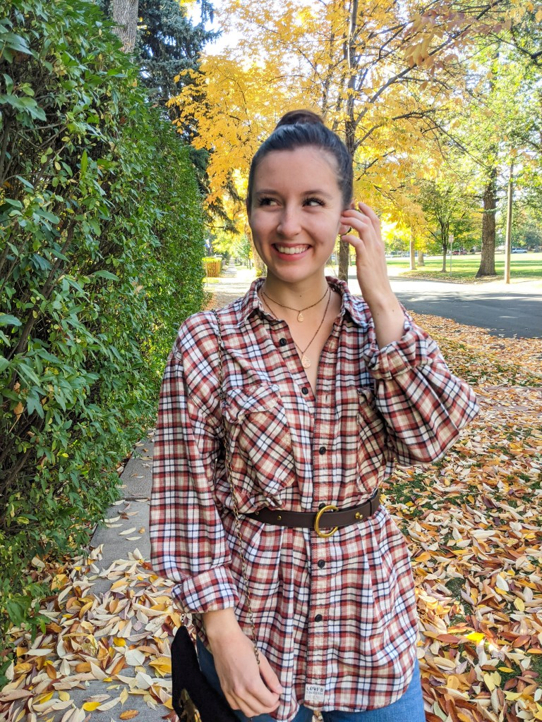 thrifted-plaid-flannel-fall-style-tunic-leaves
