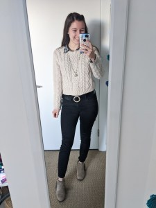 collared-shirt-gingham-sweater-preppy-pearl-belt