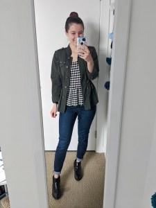 college-style-utility-jacket-checkered-peplum-booties