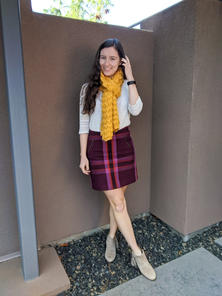 plaid-skirt-mustard-scarf-fall-style-college-fashion