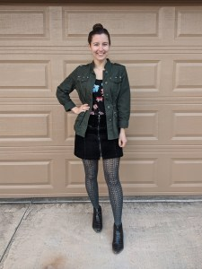 utility-jacket-corduroy-skirt-textured-tights-fall-style