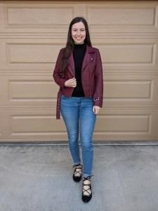 maroon-moto-jacket-bb-dakota-black-turtleneck-laceup-shoes