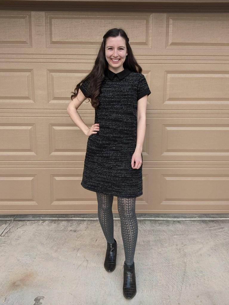 black-tweed-dress-collared-maison-jules-macys