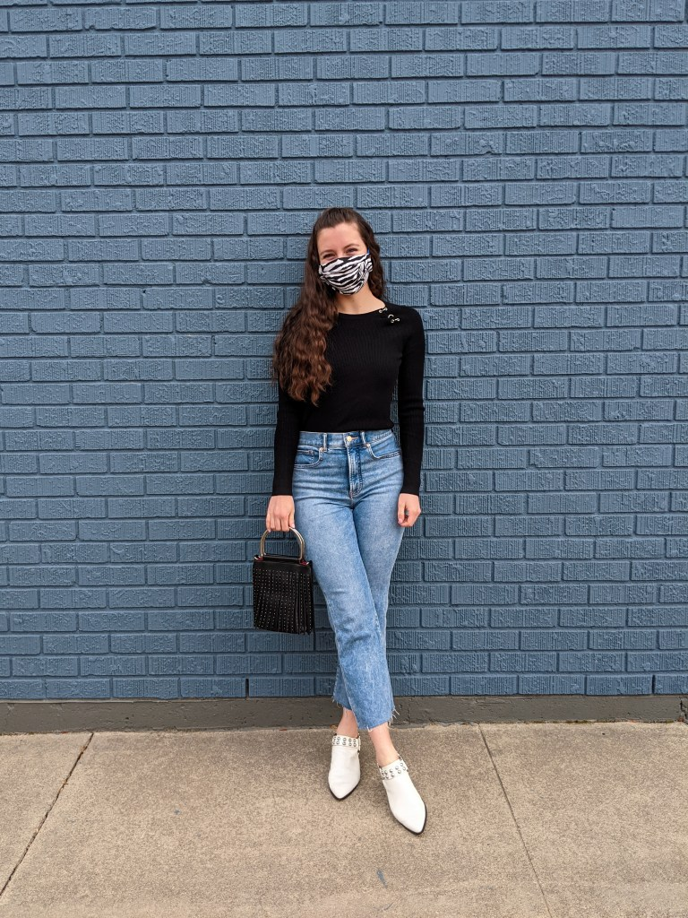 mom-jeans-black-ribbed-sweater-mask-fashion
