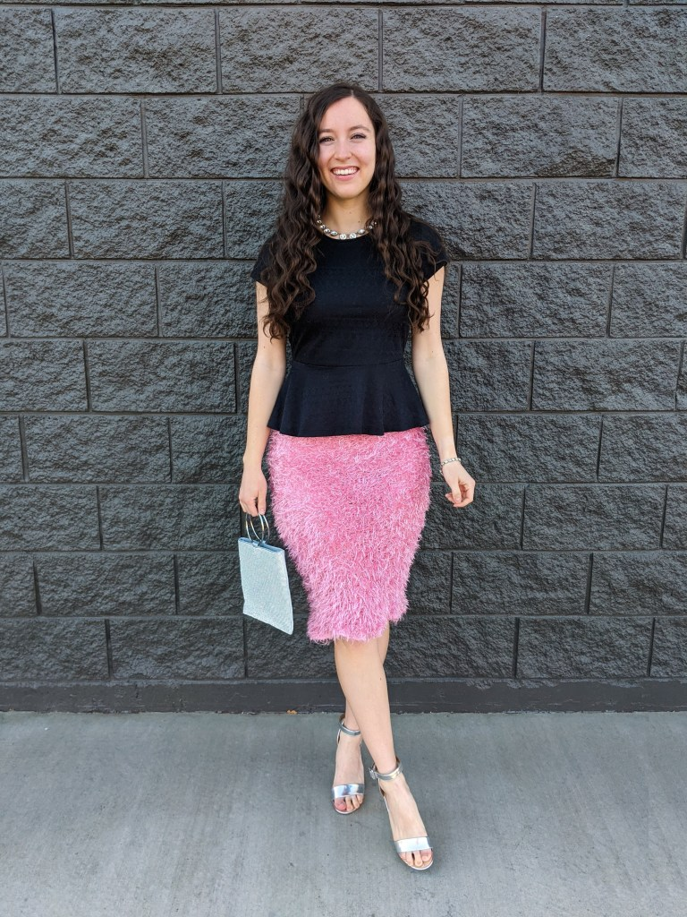 valentine's-day-outfit-pink-skirt-crimped-hair