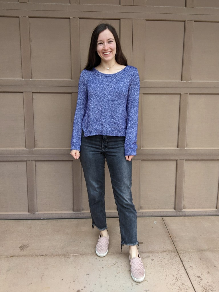 purple-sweater-thrifted-grey-express-jeans-straight-leg