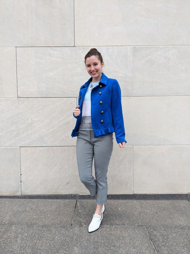 blue-peacoat-francescas-striped-sweater-houndstooth-pants