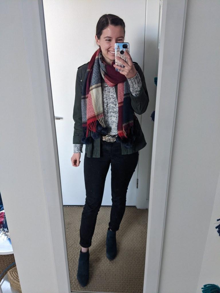 blanket-scarf-utility-jacket-blue-booties-white-mountain
