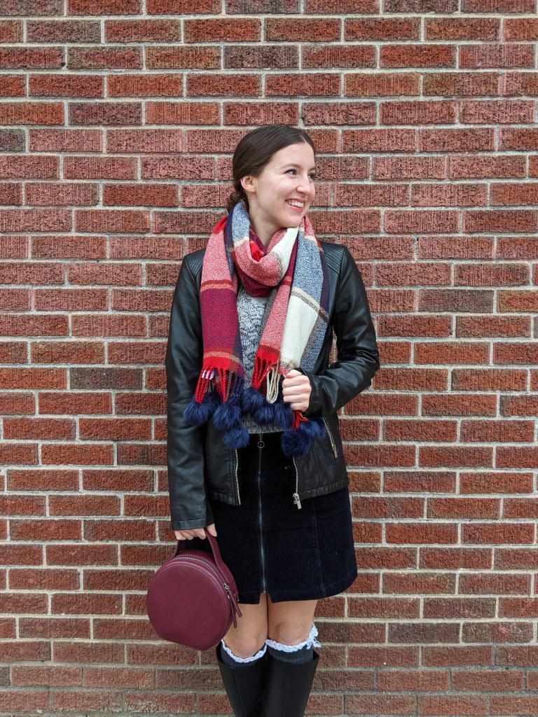 plaid-blanket-scarf-leather-jacket-circle-purse