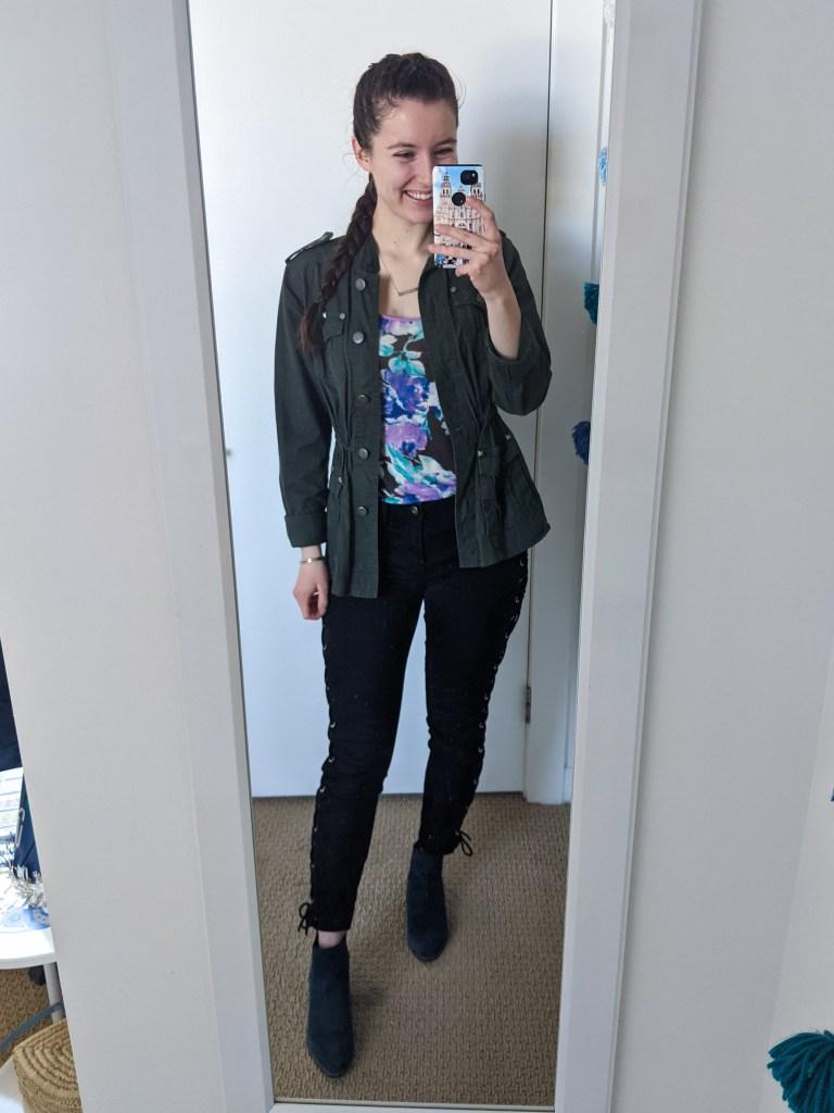 blue-booties-utility-jacket-floral-tee