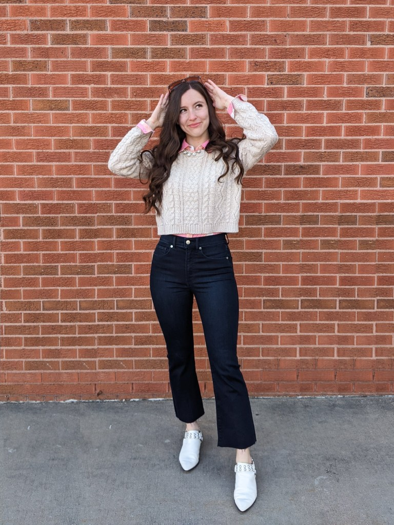 spring-transitional-outfit-college-advice-cropped-flared-jeans