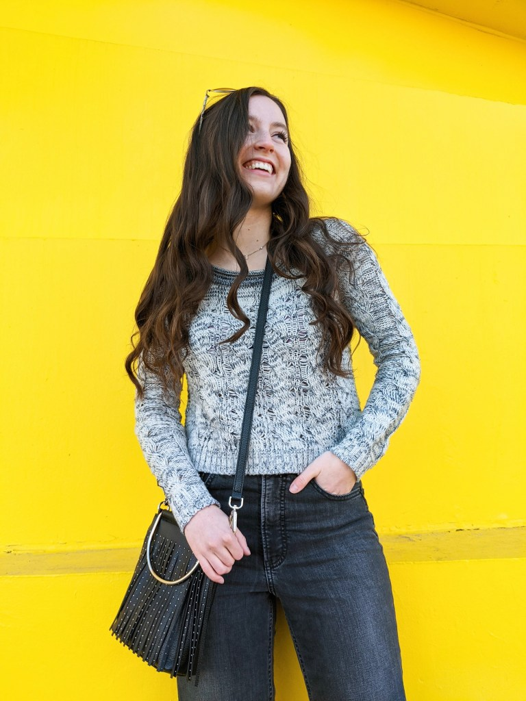 illuminating-yellow-grey-sweater-jeans-express