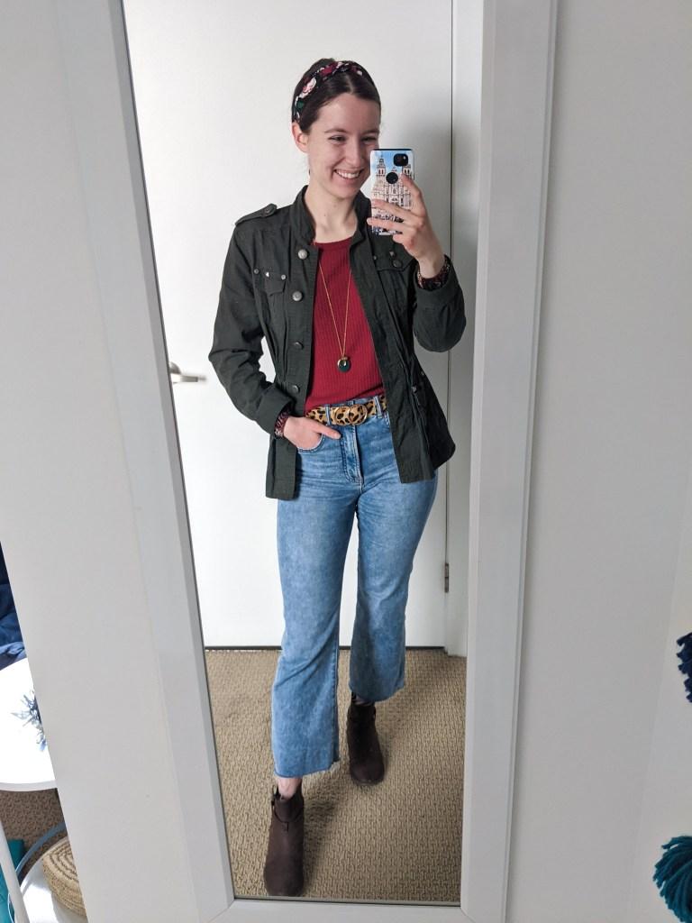 utility-jacket-cropped-jeans-brown-booties-leopard-belt