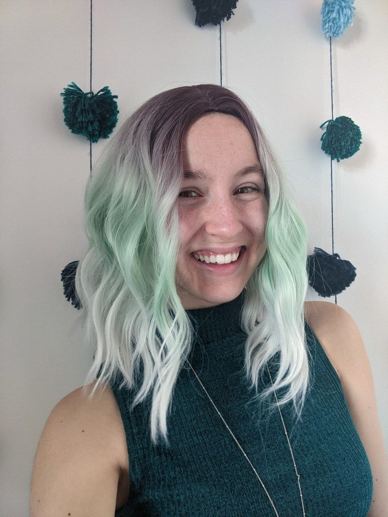 green-wig-st-patrick's-day-dyed-hair