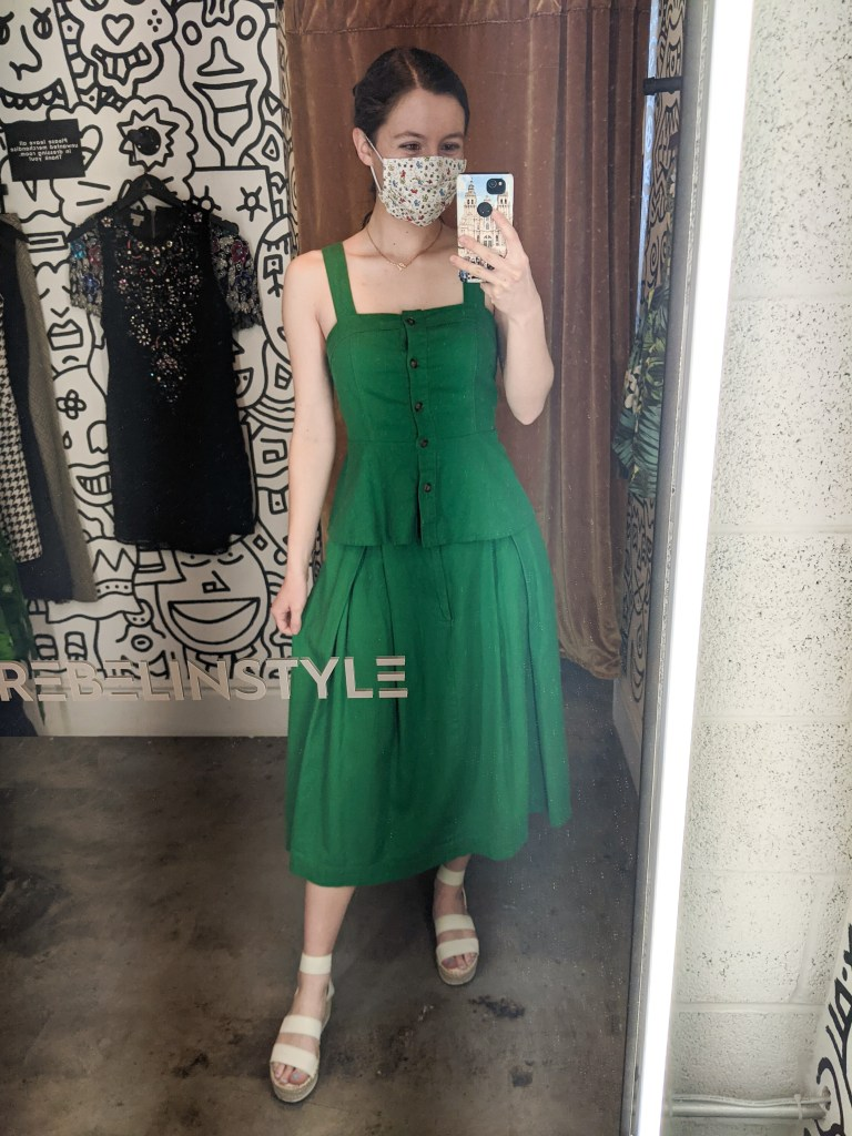 kelly-green-two-piece-set-old-fashioned