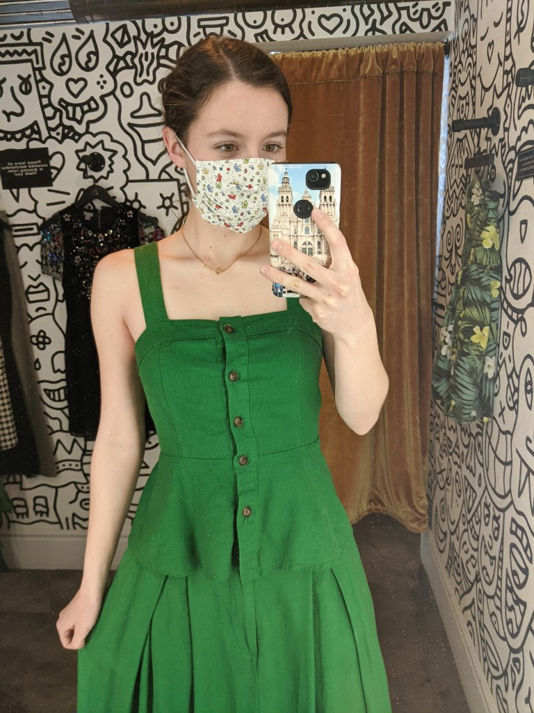green-peplum-top-button-down-summer-style