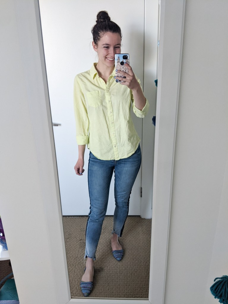 lime-green-neon-collared-shirt-tuxedo-stripe-jeans