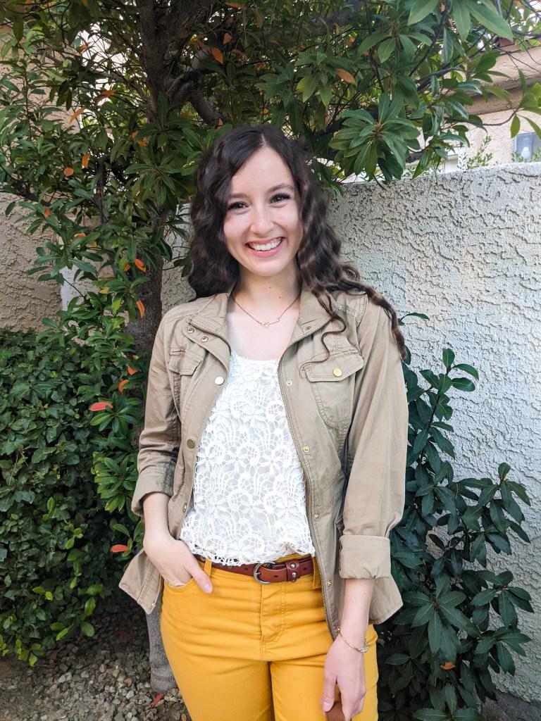 anorak-jacket-lace-top-yellow-pants