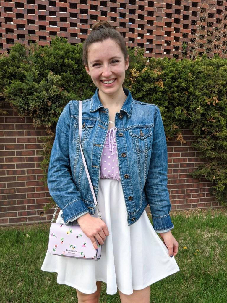 denim-jacket-kate-spade-purse-lilac-spring-pastels