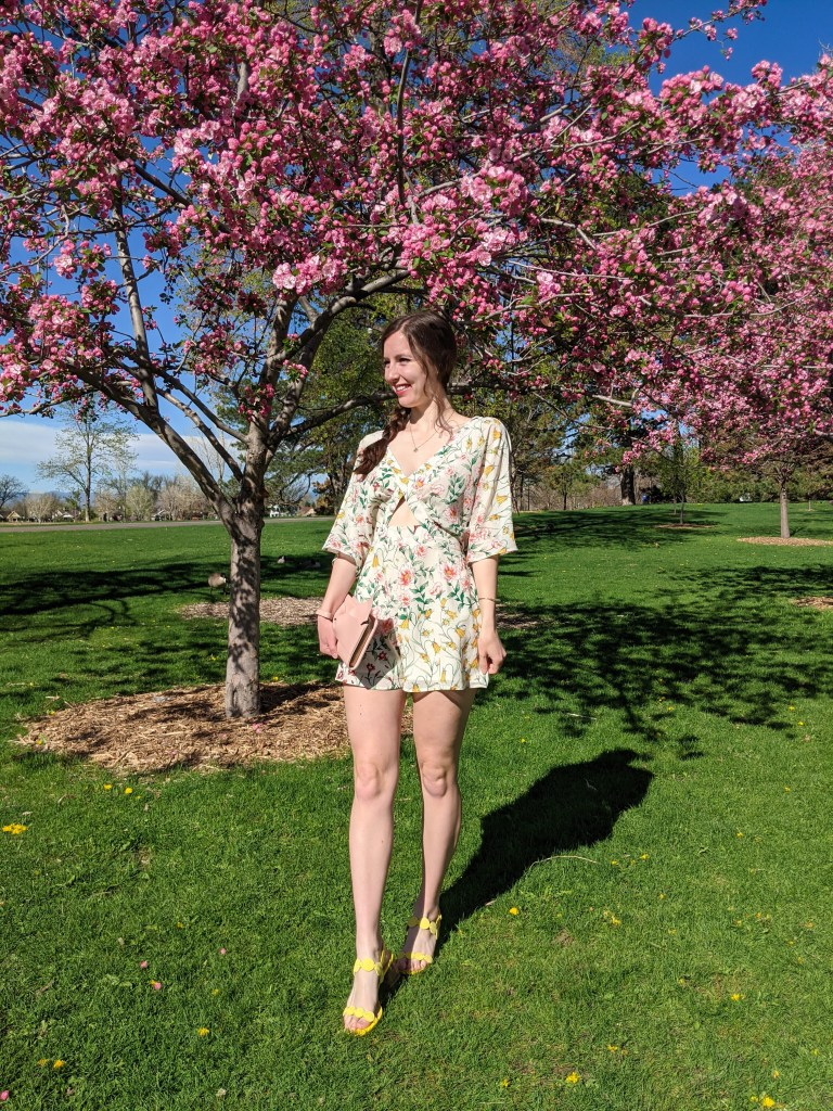 floral-romper-consignment-flutter-sleeves-yellow-sandals