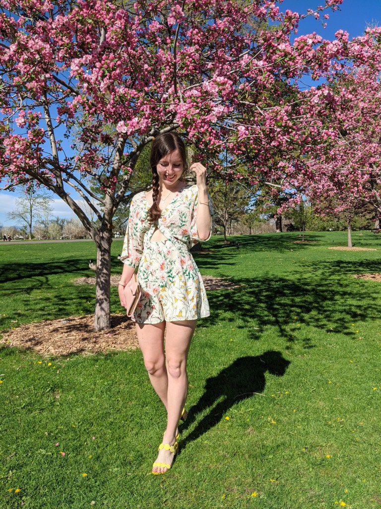 floral-romper-thrifted-blush-purse-spring