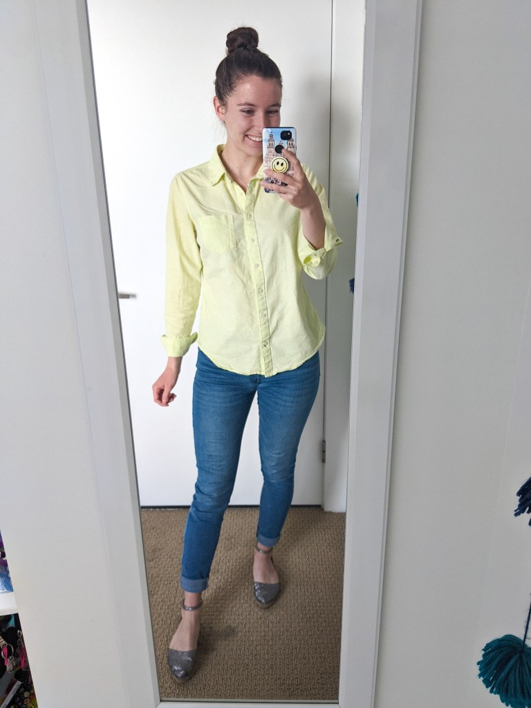 collared-shirt-lime-green-neon-skinny-jeans