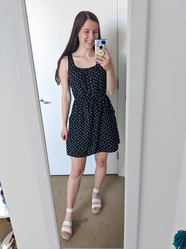 black-polka-dot-dress-white-espadrilles