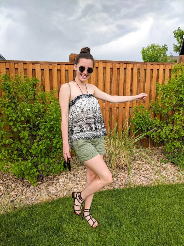 boho-top-skirt-as-shirt-green-shorts-loft