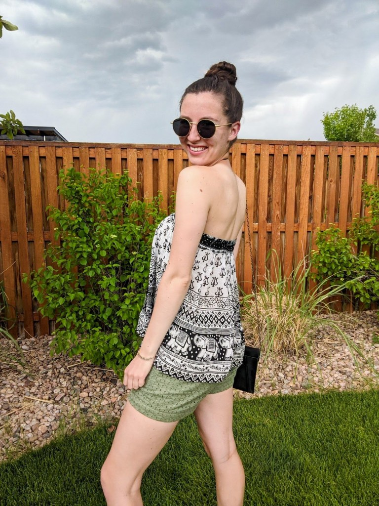 patterned-halter-top-green-shorts-summer-style-casual-vibes