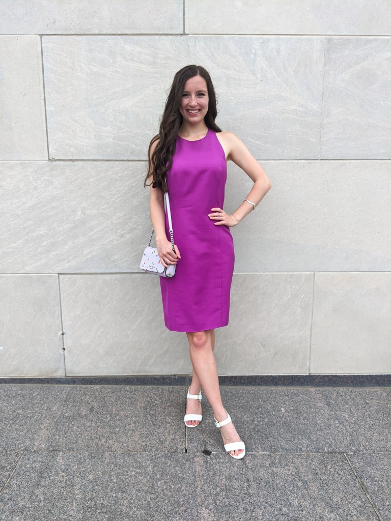graduation-outfit-wedding-guest-dress-bold-color-summer-outfit-kate-spade