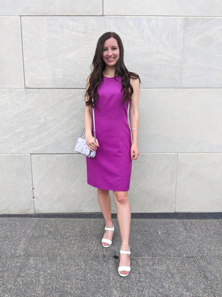 fuchsia-dress-thrifted-shift-style