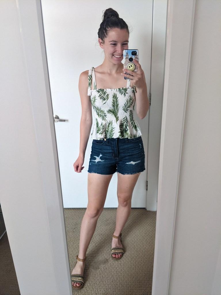 palm-print-tank-jean-shorts-summer-style