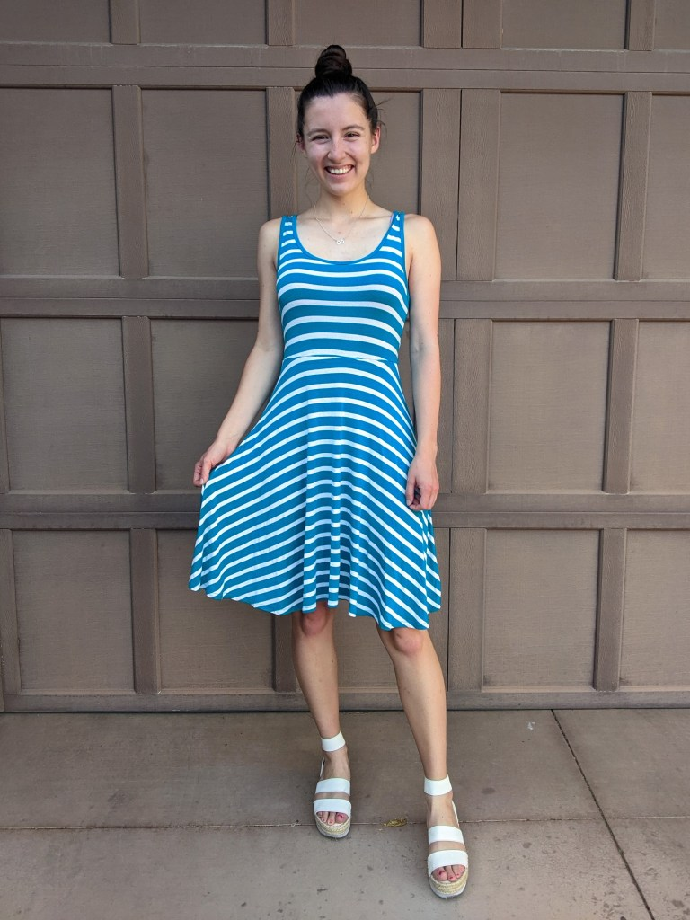 turquoise-stripe-dress-old-navy-summer-style