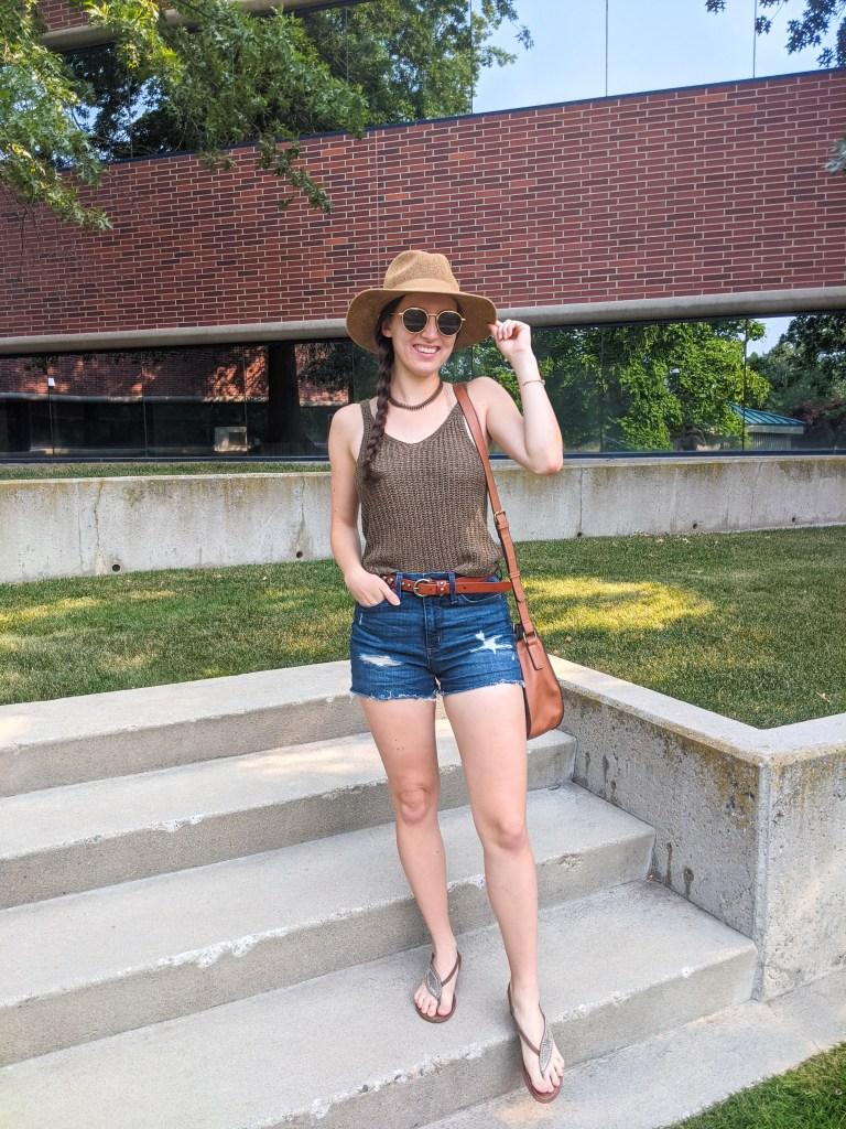 panama-hat-denim-shorts-sundance-nordstrom-rack-francescas