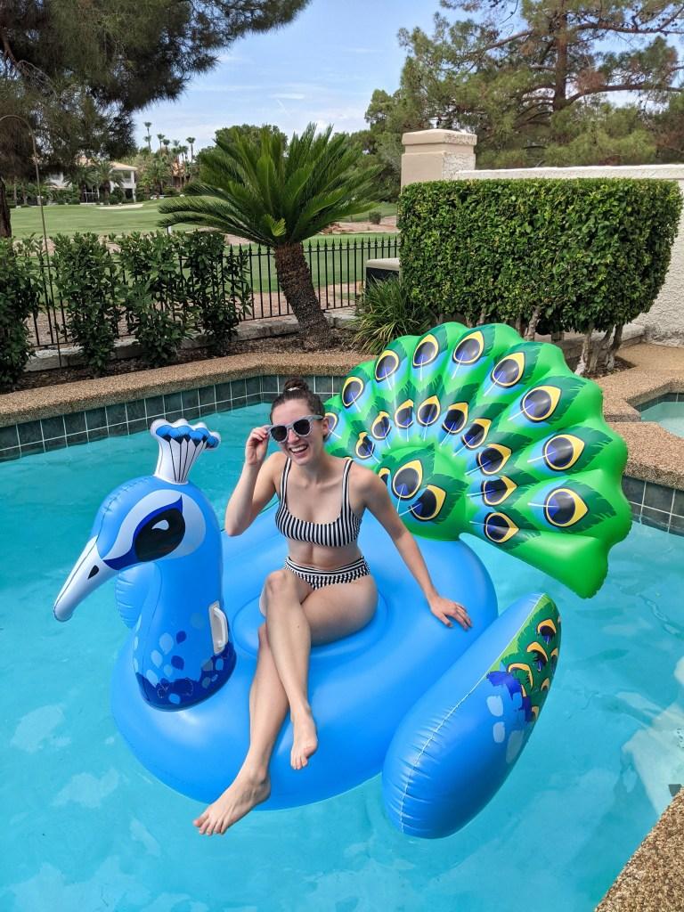 peacock-pool-float-striped-bikini