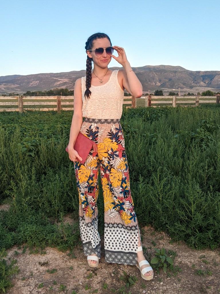 palazzo-pants-aviators-crochet-top-summer-style