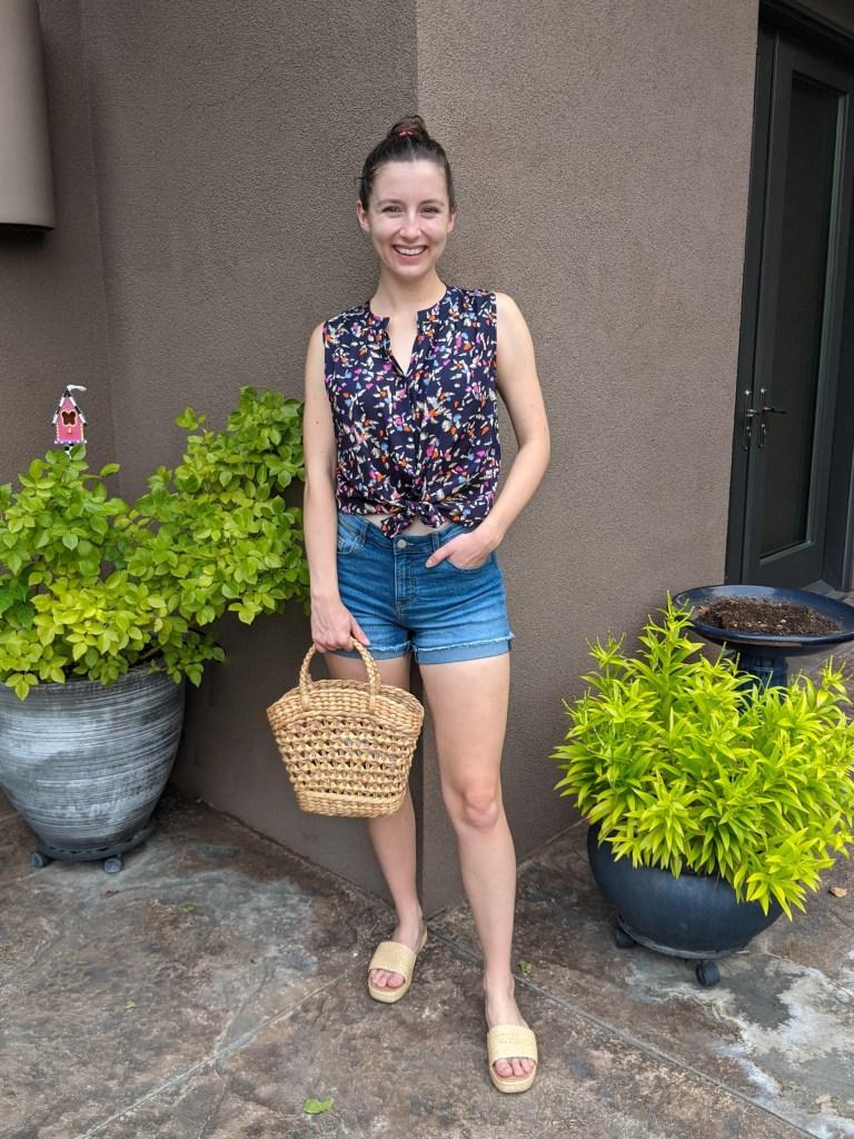wicker-purse-slides-target-style-denim-shorts